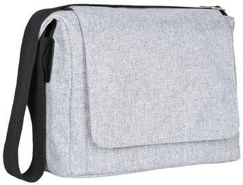 L Ssig Lässig Green Label Small Messenger Diaper Bag Black Melange