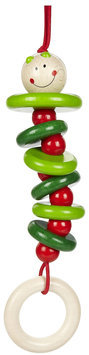 Haba Toys Haba USA 1218 Rattling Caterpillar Dangling Figure Pack of 4