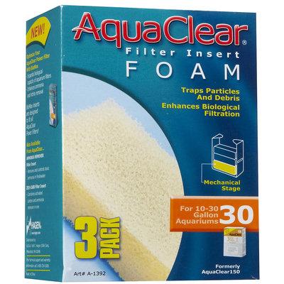 RC Hagen A1392 AquaClear 30 Foam Insert - 3-pack