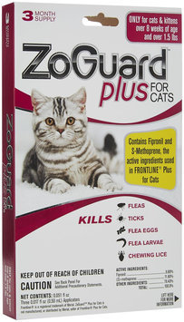 ZoGuard Plus for Cats over 1.5 lbs 3 month supply