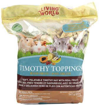 RC Hagen 61184 Living World Timothy Toppings Fruit Mix, 21.3 oz
