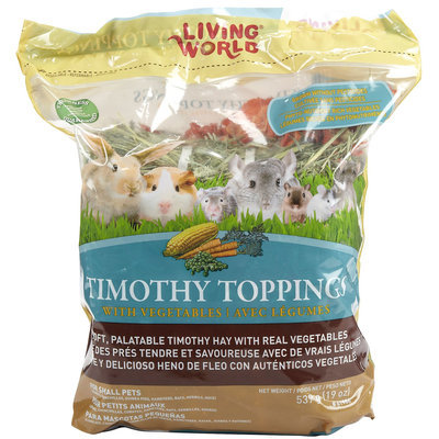 RC Hagen 61186 Living World Timothy Toppings Veggie Mix, 19.5 oz