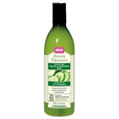 Avalon Organics - Bath & Shower Gel Gluten Free Cucumber Fragrance Free - 12 oz.