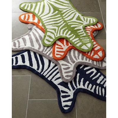 Jonathan Adler Zebra Bath Rug, GREEN