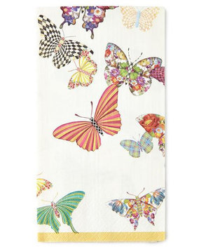 Mackenzie-childs Butterfly Garden Guest Towels, BUTTERFLY GARDEN