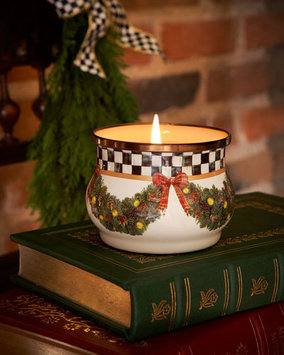 Mackenzie-childs Evergreen Winter Candle