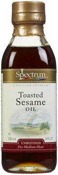 Spectrum Naturals Unrefined Toasted Sesame Oil, 8 oz