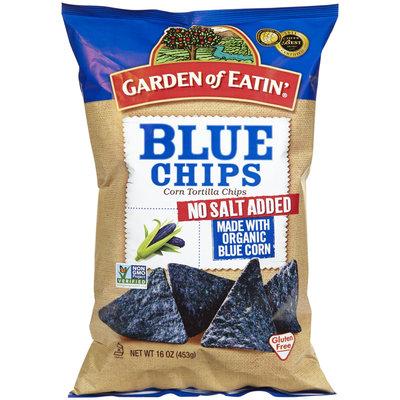Garden Of Eatin' Blue Chips, No Salt, Party Size, 16 oz