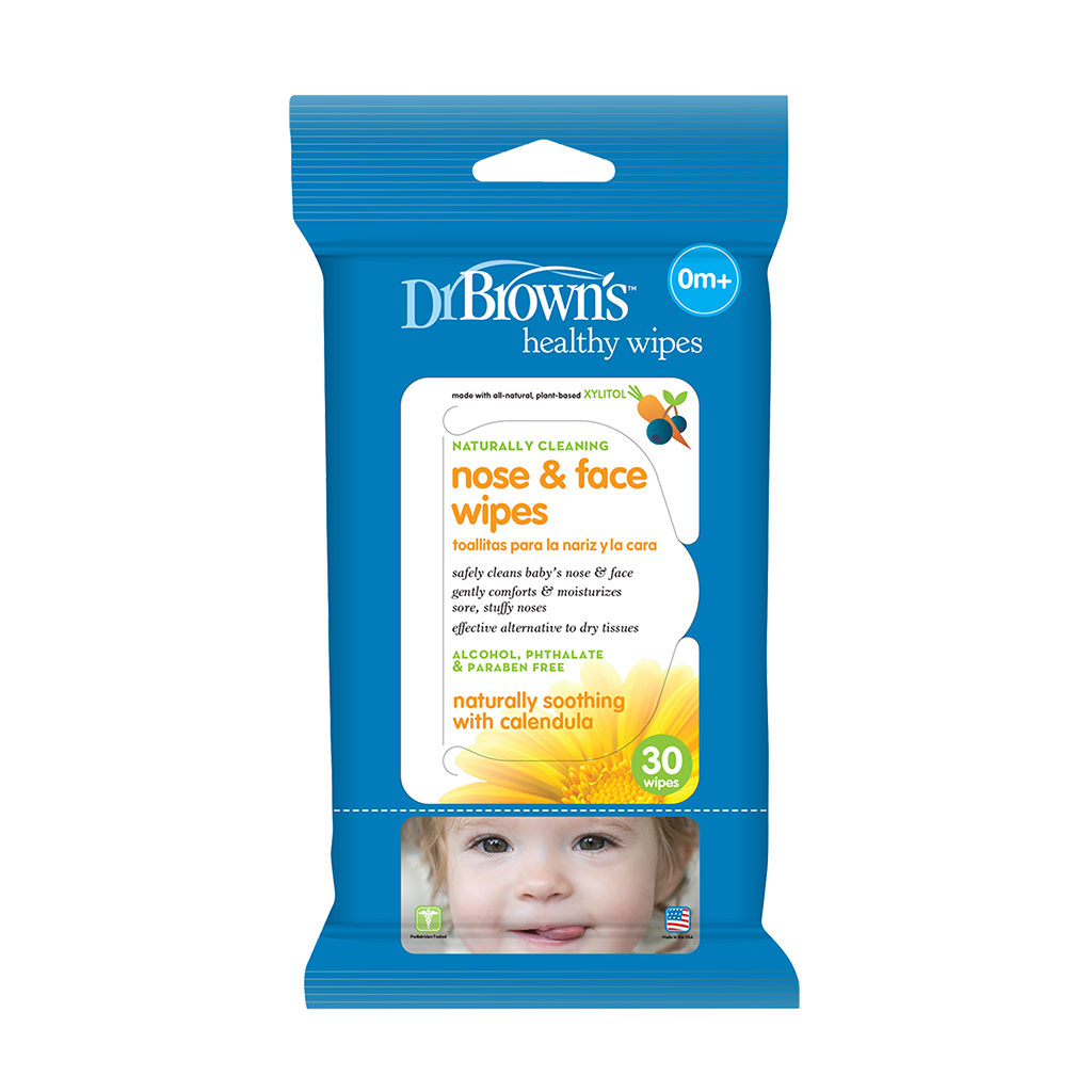 Dr. Brown's Nose & Face Wipes
