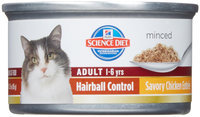 Hill's Science Diet Adult Hairball Control Savory Chicken Entree - .