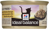 Hill's Ideal Balance Grain Free Roasted Chicken Recipe Canned Cat Food