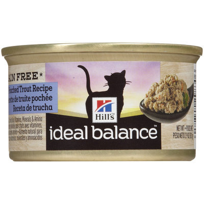 Hill's Ideal Balance Grain Free Poached Trout Recipe Canned Cat Food