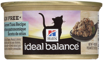 Hill's Ideal Balance Grain Free Gourmet Tuna Recipe Canned Cat Food