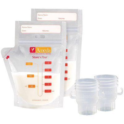 Ameda Store 'N Pour Breast Milk Storage Bags