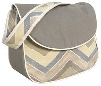 Hoohobbers Messenger Diaper Bag - Chevron - 1 ct.