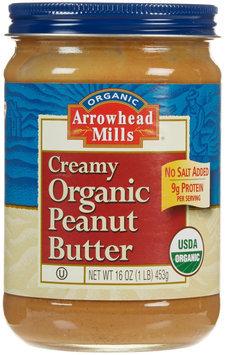 Arrowhead Mills Organic Creamy Peanut Butter - No Salt Added - 16 oz