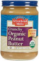 Arrowhead Mills Organic Crunchy Peanut Butter - No Salt Added - 16 oz