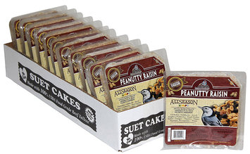 Heath Outdoor Products Peanutty Raisin Suet Cake - Case of 12