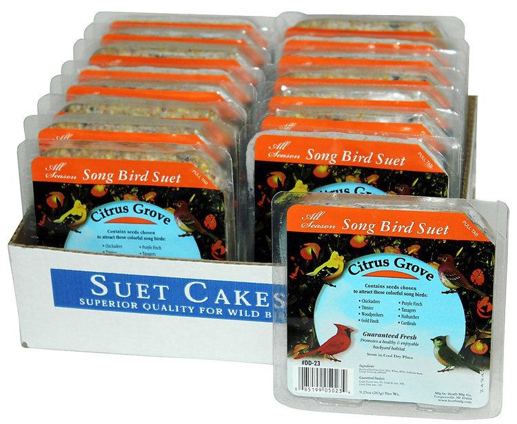 Heath Manufacturing Heath Outdoor Products Citrus Grove Suet Cake - Case of 16