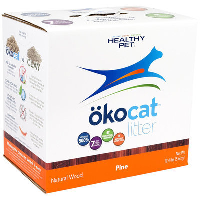 Okocat Natural Pine Wood Litter Non Clumping