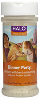 Halo Purely For Pets Dinner Party Protein Sprinkle Chicken with Herb Seasoning - 2 oz