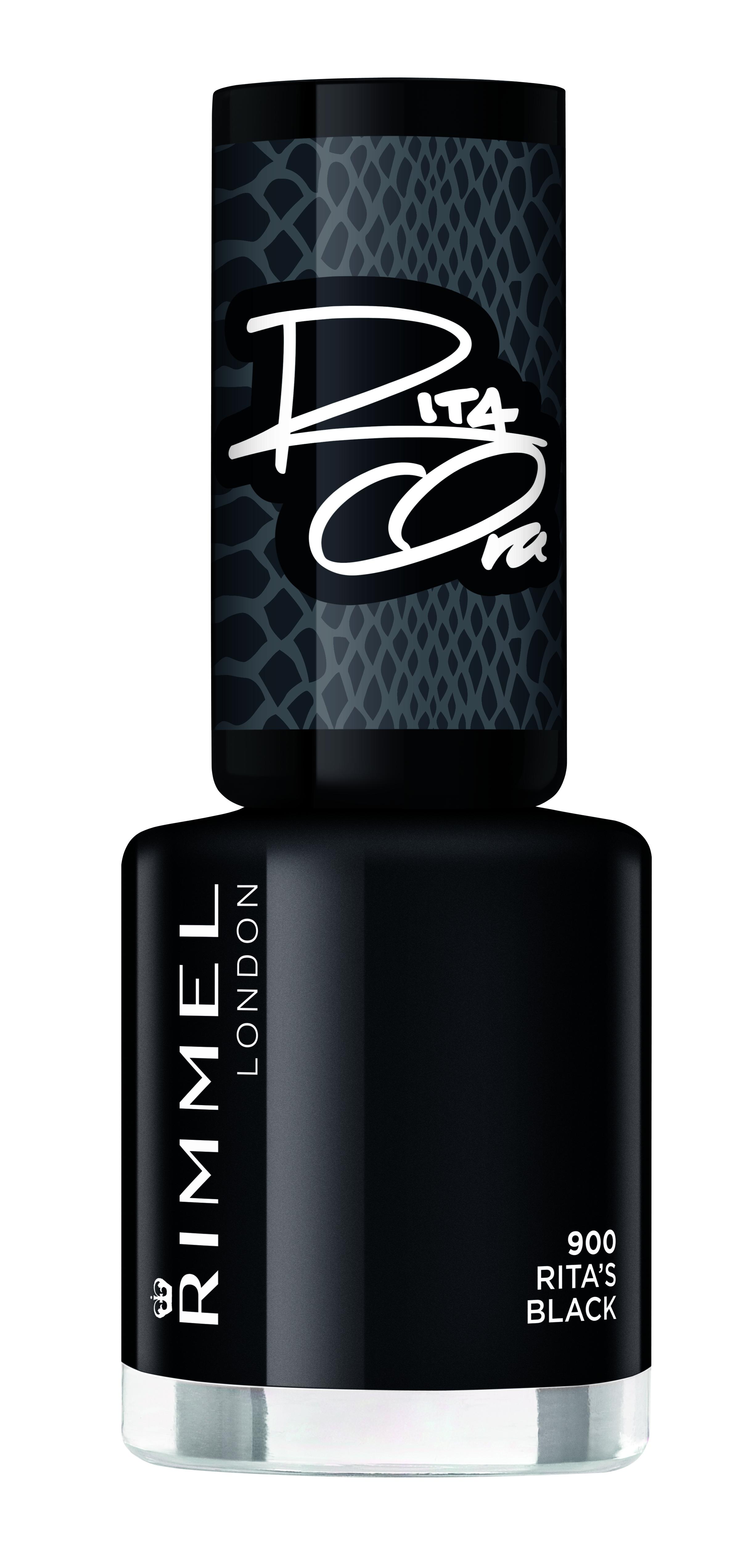 Rimmel London Shades of Black 60 Seconds Nail Polish by Rita Ora