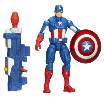 Marvel Captain America Super Soldier Gear Shockwave Blast Captain America Figure