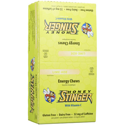 Honey Stinger Organic Energy Chews - 12 Pack Limeade-Caffeinated, One Size - Men's