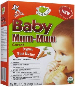 Mum Mum Rice Biscuits - Organic Carrot - 1.76 oz - 1 ct.