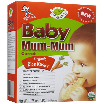 Mum Mum Rice Biscuits - Organic Carrot - 1.76 oz - 1 ct.