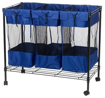 Household Essentials Triple Mesh Storage Bin Blue/Black