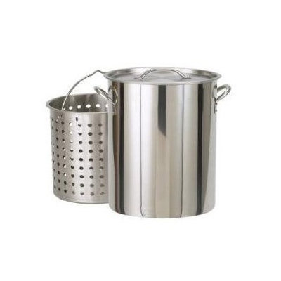 Bayou Classic 1122 122qt. Stainless Steel Stockpot with Boil Basket