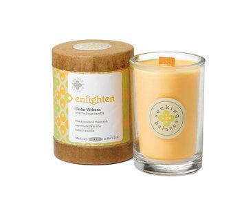 Root Scented Seeking Balance Enlighten Candle, Cedar Verbena