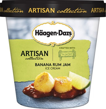 Haagen-Dazs Artisan Collection Ice Cream Banana Rum Jam