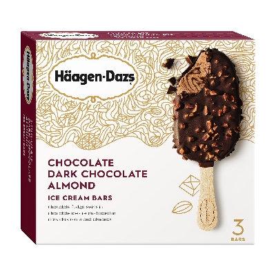Haagen-Dazs Chocolate Dark Chocolate Almond Ice Cream Bars