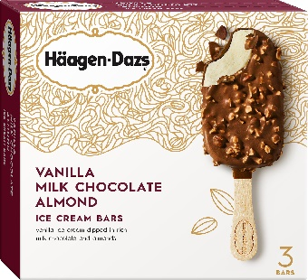 Haagen-Dazs Vanilla Milk Chocolate Almond Ice Cream Bar