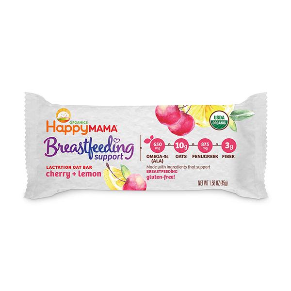 Happy Mama® Breastfeeding Support Lactation Oat Bar Cherry and Lemon