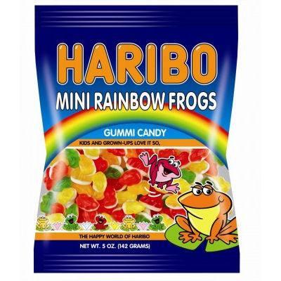 HARIBO Mini Rainbow Frogs Gummi Candy