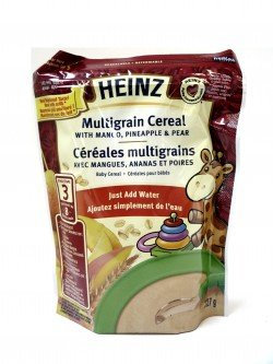 Heinz® Stage 3 Multigrain Cereal With Mango, Pineapple & Pear Just Add Water Resealable Bag
