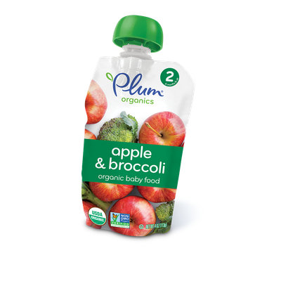Plum Organics Second Blends Apple & Broccoli