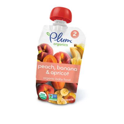 Plum Organics Second Blends Peach, Banana & Apricot