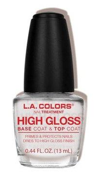 L.A. Colors High Gloss Base Coat & Top Coat Treatment