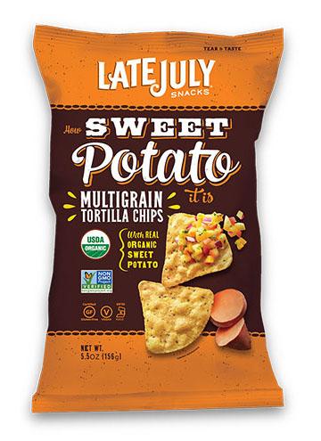 Late July® Snacks Multigrain Tortilla Chips How Sweet Potato It is