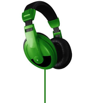 Vibe Premium Color DJ Style Noise Reduction Headphones - Green