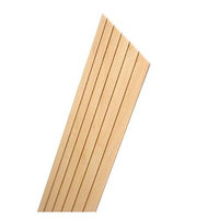 Midwest Basswood Clapboard Siding 3/8 in. clapboard