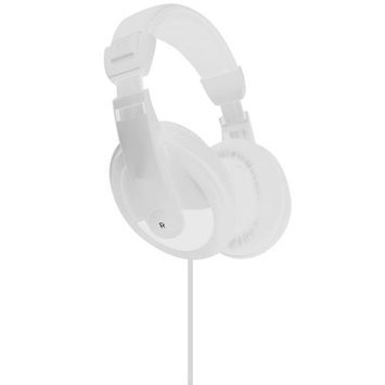 Vibe Sound DJ Style Stereo Over Ear Headphones All Devices with 3.5mm White
