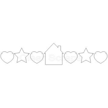 Clear Scraps Clear Acrylic 7-Piece Home Sweet Home Banner