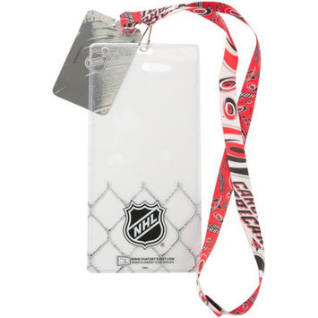 That's My Ticket Reversible Lanyard Key Chain With Ticket Holder-Carolina Hurricanes