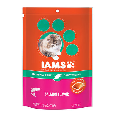 Iams™ Proactive Health™ Hairball Salmon Flavor Daily Treats Cat Food