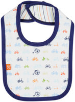 Magnificent Baby Bikes Reversible Bib - Blue - 1 ct.